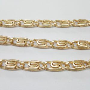 Бижута на метър ланец 7 мм с цвят на розово злато