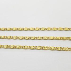 Бижута на метър синджир 3 мм с цвят на проба 585