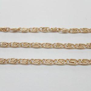 Бижута на метър синджир 4 мм с цвят на розово злато