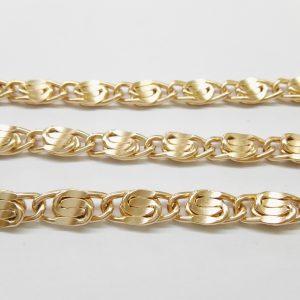 Бижута на метър синджир 5 мм с цвят на розово злато