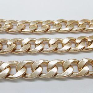 Бижута на метър ланец 11 мм с цвят на розово злато