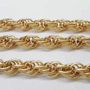 Бижута на метър ланец 9 мм с цвят на розово злато