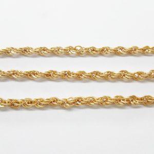 Бижута на метър синджир 3 мм с цвят на розово злато