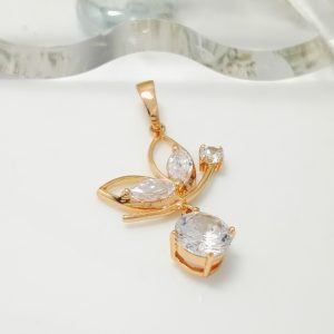 Висулка ПЕПЕРУДА -нежна и стилна форма.18к златно покритие