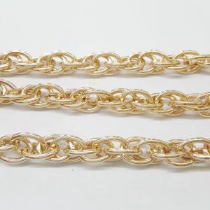 Бижута на метър ланец 8 мм с цвят розово злато