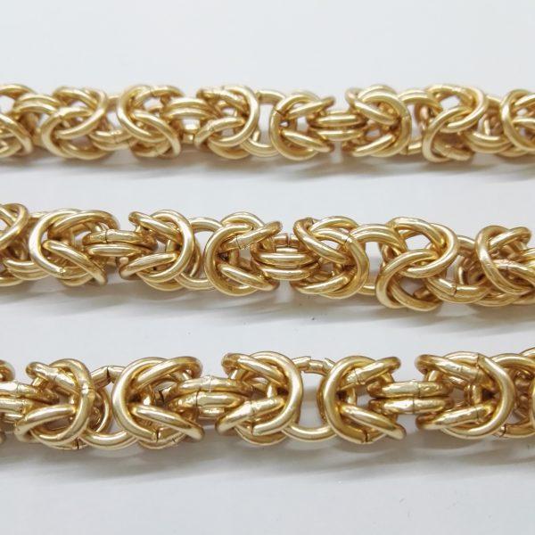 Бижута на метър ланец 9 мм с цвят розово злато