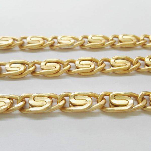 Бижута на метър ланец 6 мм с цвят на розово злато