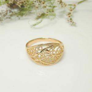 """Дамски пръстен """"Ажурен"""". 18К златно покритие"""