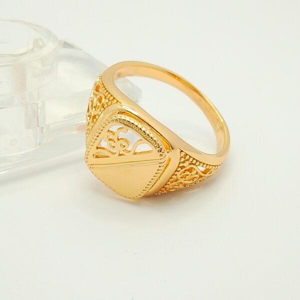 """Мъжки пръстен """"Зевс"""" с ажурни елементи. 18К златно покритие"""